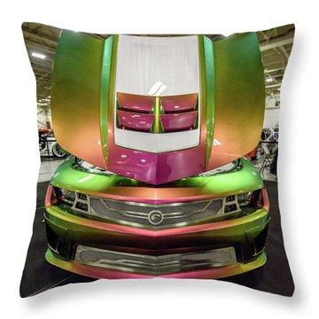 Throw Pillow featuring the photograph Custom Camaro by Randy Scherkenbach