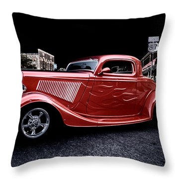 Custom Car On Street Throw Pillow