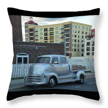 Throw Pillow featuring the photograph Custom Chevy Asbury Park Nj by Terry DeLuco