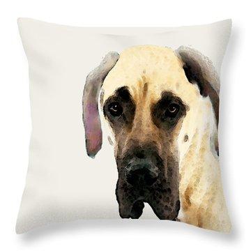 Custom Great Dane Art Throw Pillow