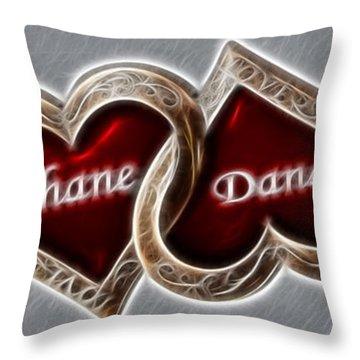 Custom Hearts Throw Pillow