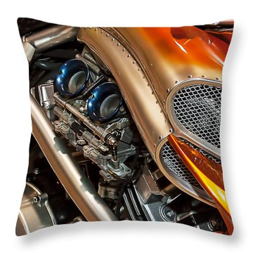 Custom Motorcycle Throw Pillow