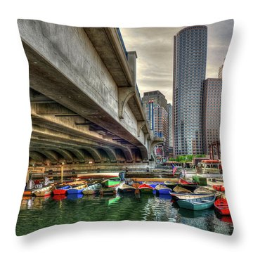 Throw Pillow featuring the photograph Custom Order - Boston Rowing Center by Joann Vitali