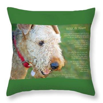 Custom Paw Print Dakota Throw Pillow