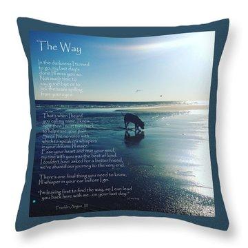 Custom Paw Print Franklin Angus Throw Pillow