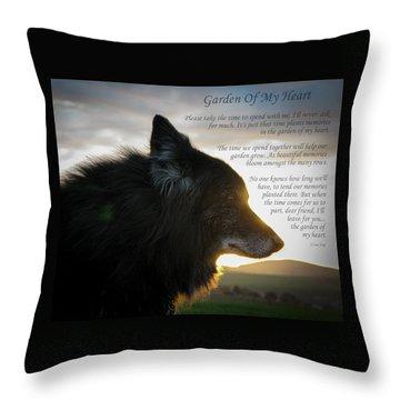 Custom Paw Print Garden Of My Heart Throw Pillow