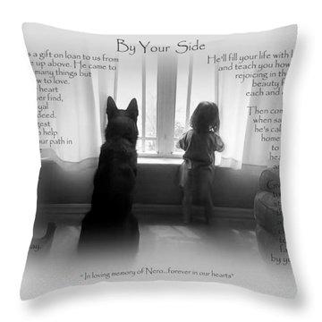 Custom Paw Print   Nero Throw Pillow