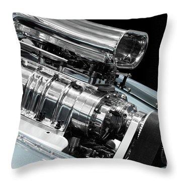 Custom Racing Car Engine Throw Pillow by Oleksiy Maksymenko