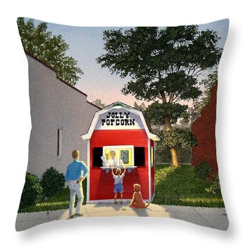 Customers' Last Stand Throw Pillow