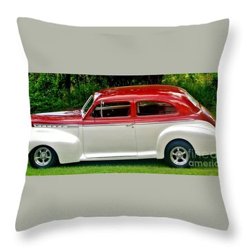 Customized Forty One Chevy Hot Rod Throw Pillow by Marsha Heiken