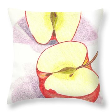 Cut Apple Throw Pillow