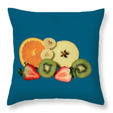 Throw Pillow featuring the photograph Cut Fruit by Shane Bechler