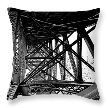 Cut River Bridge Throw Pillow