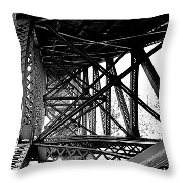 Throw Pillow featuring the photograph Cut River Bridge by SimplyCMB
