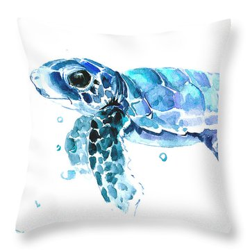 Cute Baby Turtle Throw Pillow