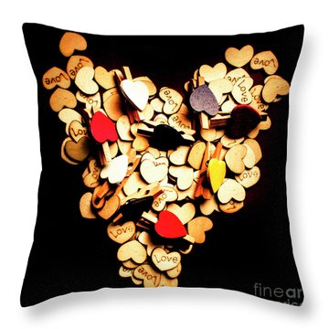 Cute Button Love Throw Pillow