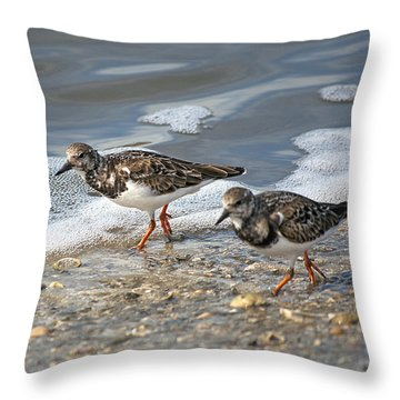 Cute Couple Throw Pillow by Kenneth Albin