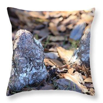Cute Cypress Knees Throw Pillow