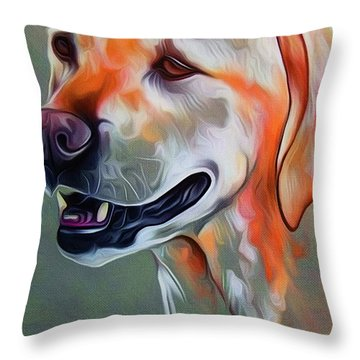 Cute Dog 01 Throw Pillow