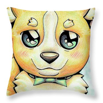 Cutie Corgi Throw Pillow