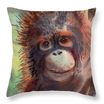 My Precious Throw Pillow by Donald Maier