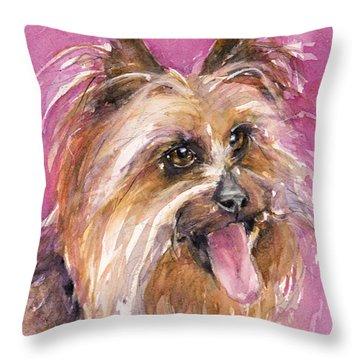 Cutie Pie Throw Pillow by Judith Levins