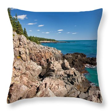 Cutler Cliffs 1 Throw Pillow