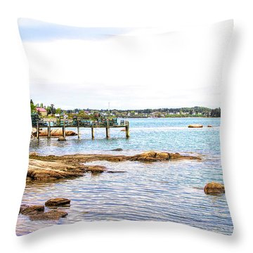 Throw Pillow featuring the photograph Cutler Pier by Betty Pauwels