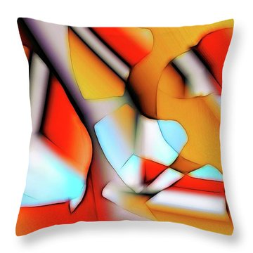 Throw Pillow featuring the digital art Cutouts by Ron Bissett
