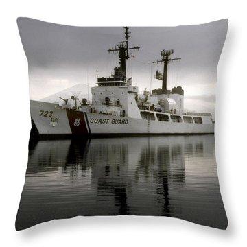 Cutter In Alaska Throw Pillow