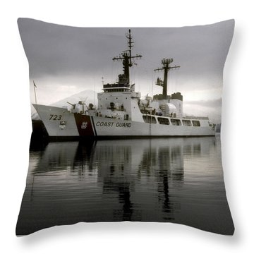 Cutter In Alaska Throw Pillow