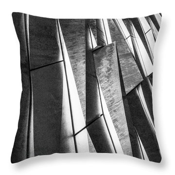 Cutting Design At Titanic Belfast Throw Pillow
