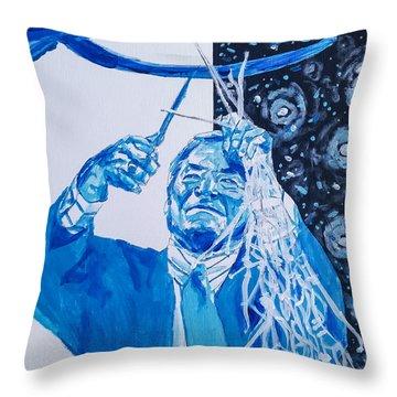 Cutting Down The Net - Dean Smith Throw Pillow