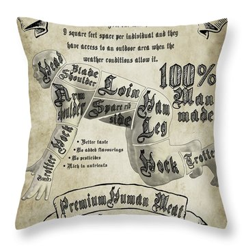 Cutting Human Throw Pillow