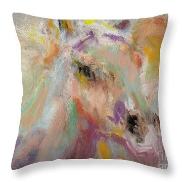 Cutting Loose Throw Pillow by Frances Marino