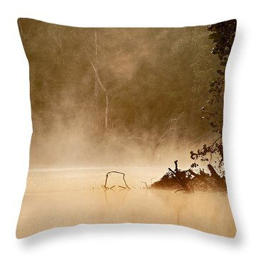 Cutting Through The Mist Throw Pillow by Robert Charity