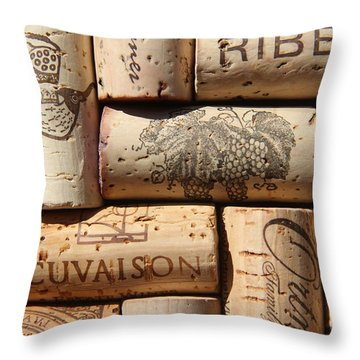 Cuvaison Throw Pillow by Anthony Jones