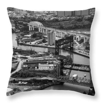 Cuyahoga River Throw Pillow