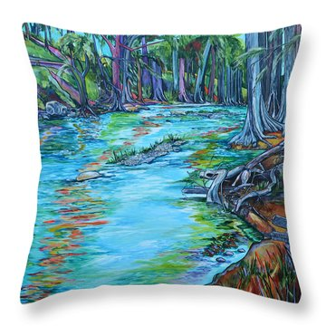 Throw Pillow featuring the painting Cw Ranch by Patti Schermerhorn