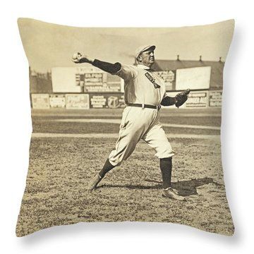 Cy Young July 23rd 1908 Throw Pillow