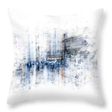 Cyber City Design Throw Pillow