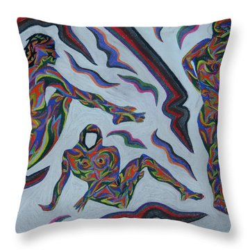 Cyber Gestes  Throw Pillow by Robert SORENSEN