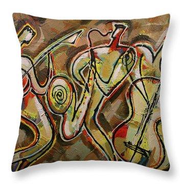 Cyber Jazz Throw Pillow