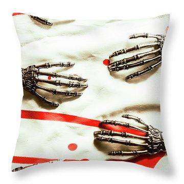 Skeletal Throw Pillows