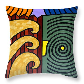 Cycle Of Nature Throw Pillow by Patrick J Murphy