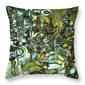 Cycles And Breaks Throw Pillow