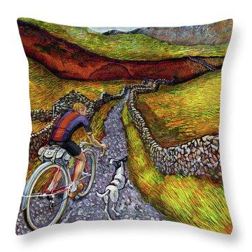 Lancashire Lanes II Throw Pillow by Mark Jones