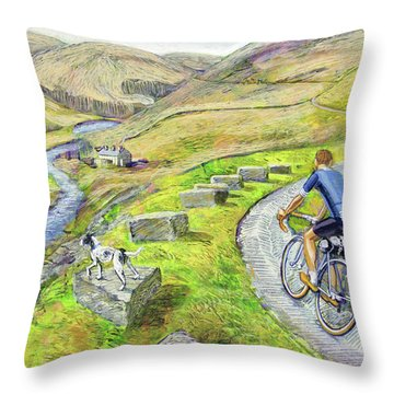 Lancashire Lanes I Throw Pillow