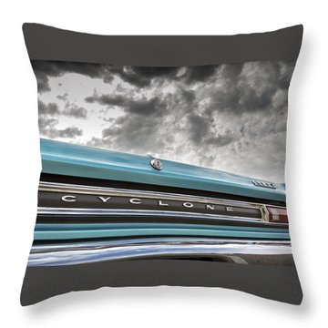 Cyclone Throw Pillow by Caitlyn Grasso