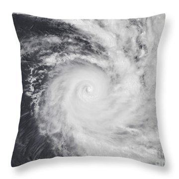 Cyclone Zoe In The South Pacific Ocean Throw Pillow by Stocktrek Images